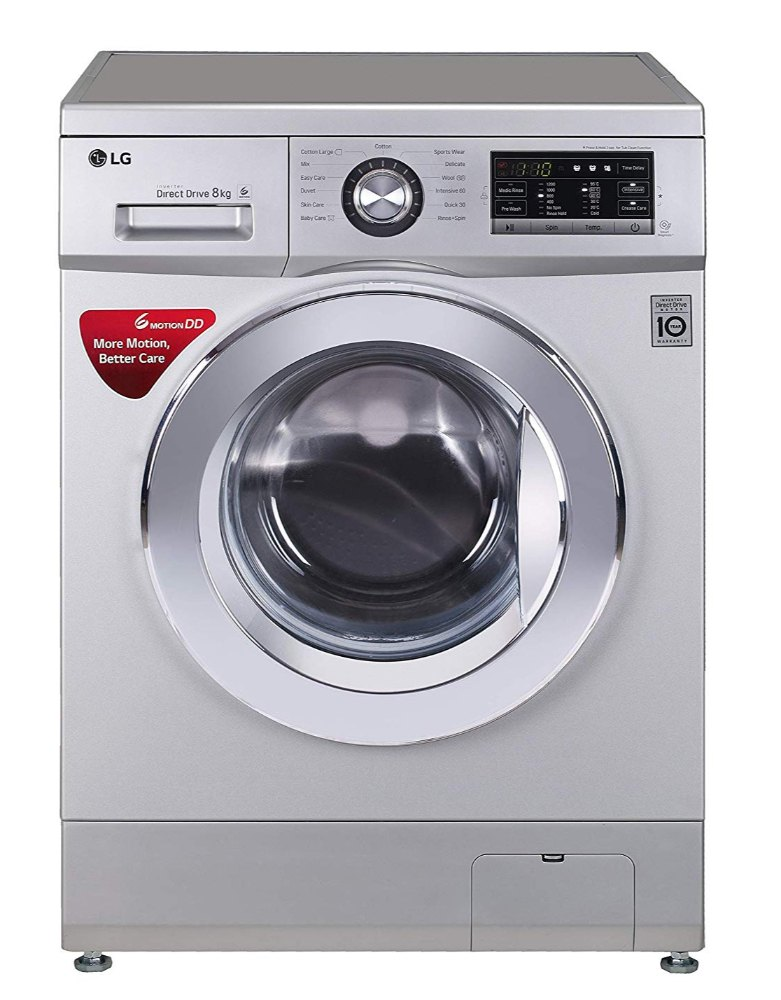 LG 8 kg Fully Automatic Front Load Washing Machine, FH2G6TDNL42, Luxu...