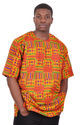 Kente African Print Unisex Dashiki Shirt Kent Dress Caftan Wax Dashiki Shirt