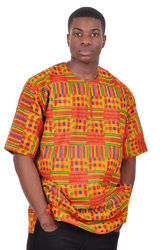 Kente African Print Unisex Dashiki Shirt Kent Dress Caftan Wax Dashiki Shirt