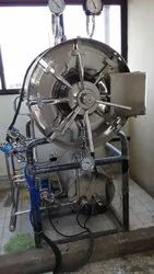 Cylindrical High Pressure Steam Sterilizer