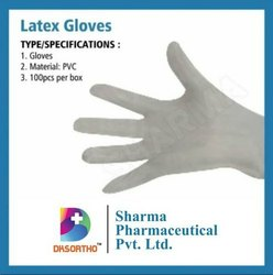 EN 374 280 mm Latex Gloves, Size: 6.5 inches