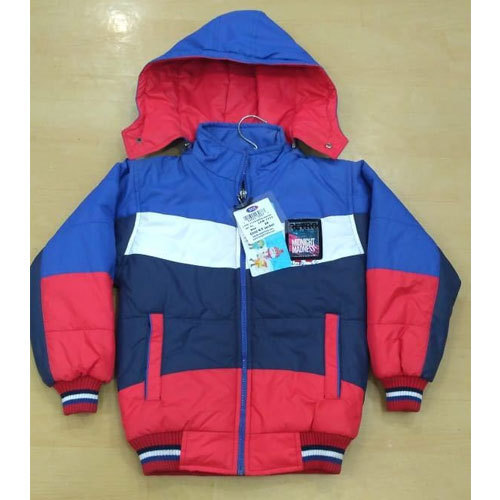 1fb7b6e22 SNS Red And Blue Kids Boys Hooded Winter Jacket