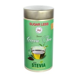 12 Months Green Tea premixed Stevia, Packaging Type: Can (Tinned), Packaging Size: 100 Gm