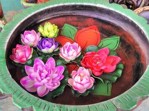 Artificial green grass artificial lotus flowers retailer from surat artificial lotus flowers mightylinksfo
