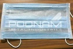 Blue PP Non-Woven 3 Ply Surgical Face Mask Loop Elastic 63 GSM Hospital Medical COVID-19