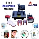 T Shirt Combo Flat Press Machine 8 in 1