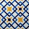Cross Line Hand Printed  Tile