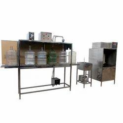 Semi Automatic 40 Ltr Jar Washing Filling Capping Machine