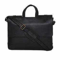 男士黑色皮革办公包