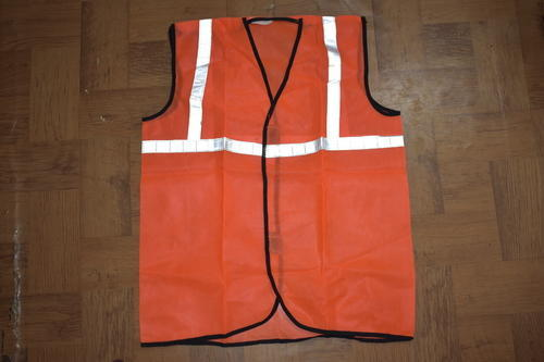 Net Polyester Orange Colour Reflective Jackets
