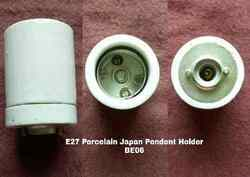 White Porcelain E27 Pendent Type Lamp Holder BE06