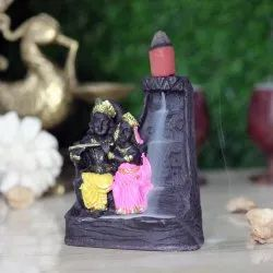 Smoke Fountain Back Flow Incense Holder- Radha Krishan