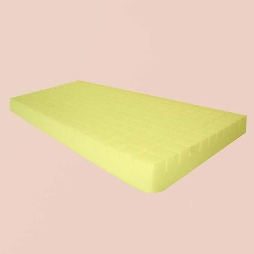 Yellow Also Available In White Color Pu Foam Mattress 5 Inch