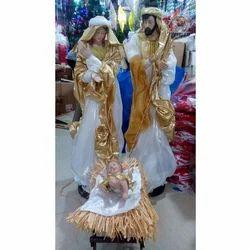 Clay Jesus Family Nativity Figure