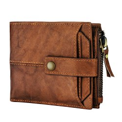 Male Black Brown Hunter Leather Wallet., Card slots: 12 Slots, Packaging Type: Box