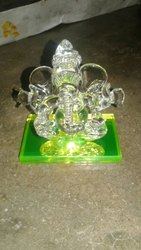 Green Glass Ganpati Ji Statue