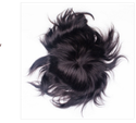 9x6 Inch Human Hair Black Men Patch