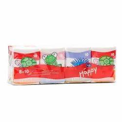 Cotton White Bella Happy Tissue Paper, For Personal Purposes, Size: 8 X 10 Cm