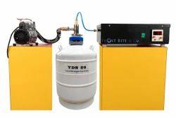 Liquid Nitrogen Mobile LCD Separator Freezer Machine