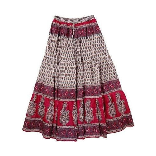 c2198245e Ladies Designer Cotton Long Skirt, Size: S To L, Rs 201 /piece | ID ...