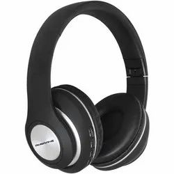 Black Foldable Ambrane Bluetooth Headphones WH-83