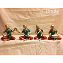 Brass Statue Musical Lady Set Of 4 Home Decoration