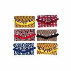 Ladies Ajrakh Print Assorted Handicrafts Bags