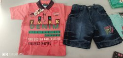 Boys Kaular Dobby Jeans Set With Pockets Kids Category