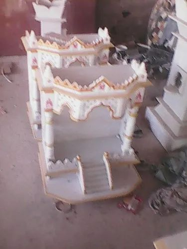White RM 3ft Height Marble Temple for Home