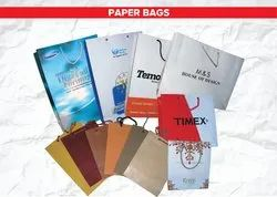 Printed Stickcraft Paper Bags, Capacity: 1kg, for Shopping