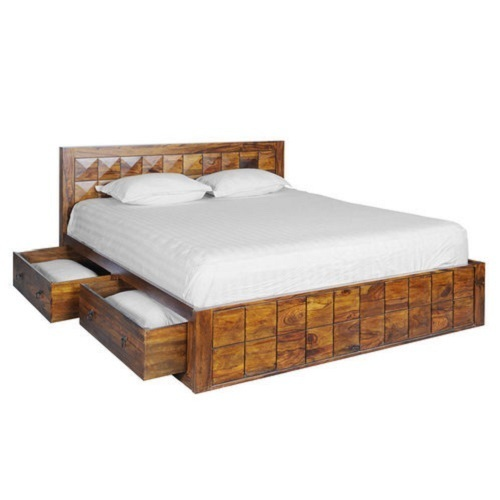 Sheesham Wood Double Box Bed Size 76 X 82 Inch Rs 30000 Piece