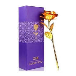 Golden Rose Artificial Flower, Packaging Type: Box