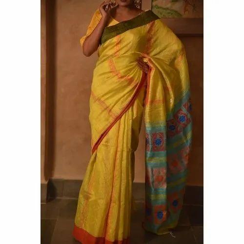 Yellow Matka Saree