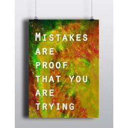 Motivational Digital Printed Poster