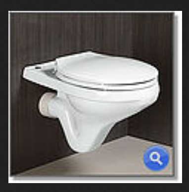 White Supreme Wall Hung Water Closet, Sirvee Trading Company