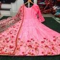 Banglori Satin Embroidered Gown