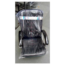 Leather and Stainless Steel Executive Chair for Office