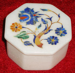 Marble Inlay Design Jewellery Box