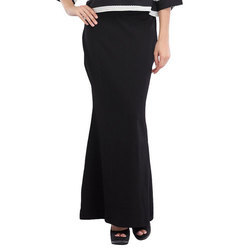 Cottinfab Solid Long Skirt