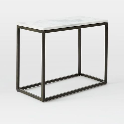 Box Frame Narrow Side Table, Metal Furniture Suppliers | Galaxy Art ...