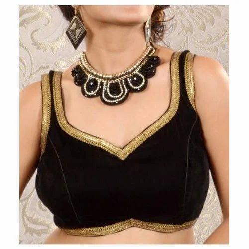 033175e02cf3b1 Plain Black Sleeveless Velvet Blouse, Rs 150 /piece, Pushp | ID ...