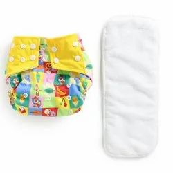 Baby Reusable Washable Resizable Cloth Diapers With Absorbent Insert