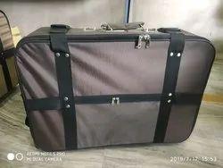Brown Four Wheel Suitcase