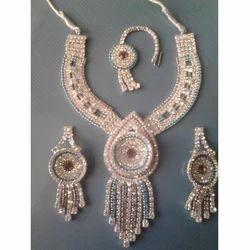 Multicolor Imitation Diamond Set with Maang Tikka