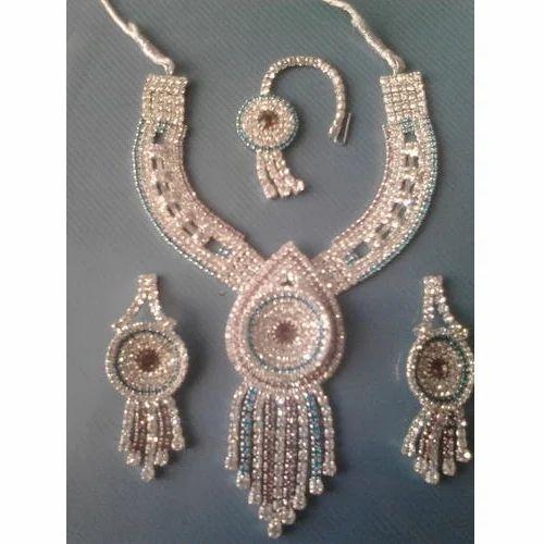 4a72828893 Imitation Diamond Set with Maang Tikka - Multicolor Imitation ...