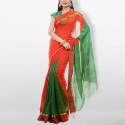 Ladies Cotton Plain Saree