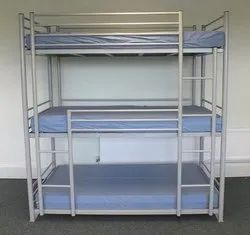 Powder Coated METAL BUNK BED, Size: 6x3 Feet