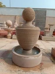 Round Sandstone Fountain