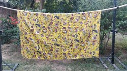 Cotton Kantha Printed Bedspread & Vintage Quilts