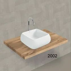 Square White Table Top Wash Basin